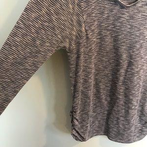Two Hearts Maternity Tops - Two Hearts Maternity Long Sleeve Striped Shirt M